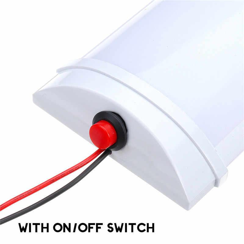 Светодиодная осветительная панель для салона автомобиля 10 Вт 72 светодиодная белая Световая трубка с переключателем для фургона грузовика RV для кемпера лодки внутреннего потолочного освещения