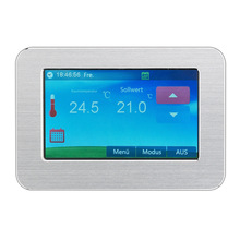 Color Touch Screen Electric Land Warm 4.3 Inch Floor Room Temperature controller Control Organ Embedded thermostat termostat