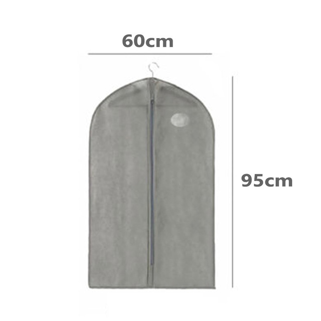 Dust-proof Dress Clothes Cover Case Suit Dress Garment Bag Storage Protector Useful Coat Garment Cover Home Zipper Protector