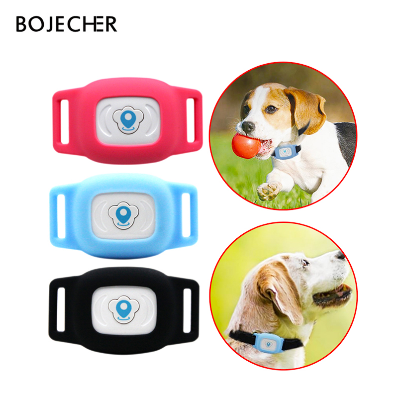 Mini gps tracker Waterproof IP67 Pet GPS locator AGPS LBS Tracking Collar for Dogs Cats SMS