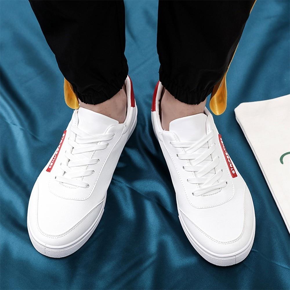 Black Desgaste 2019 Red Nuevos Zapatillas Blanco blanco Cordones Zapatos White Redonda Punta De Casuales Al Con white Primavera Hombre Transpirables Cpcook Resistentes Planas Cómodo fnq4xRwR