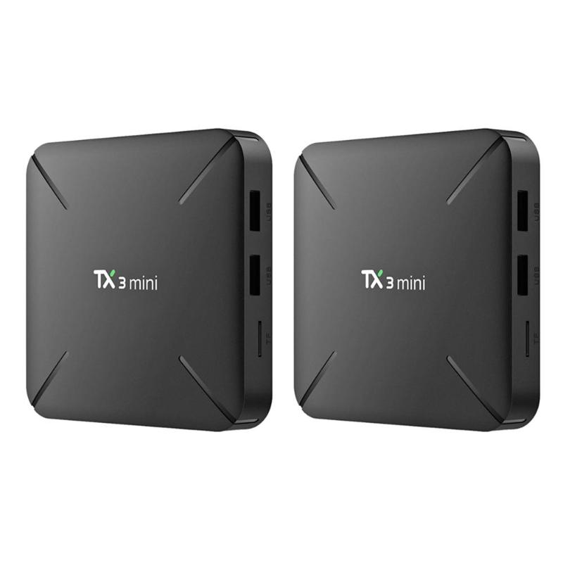 <font><b>TX3</b></font> <font><b>Mini</b></font> <font><b>Android</b></font> <font><b>7.1</b></font> Smart TV Box 1+8GB Amlogic S905W Quad Core WiFi 4K H.265 Set-top Box Media Player image