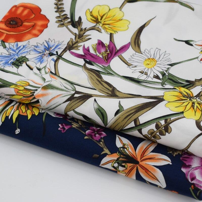 Tropical flower Imprimé Power Mesh Net tissu extensible par mètre