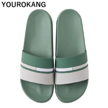 Home Slippers Unisex Indoor Couple Shoes Badslippers Non-slip Women Bathroom Flip Flops Lovers Lightweight Slides Beach Sandals цена 2017