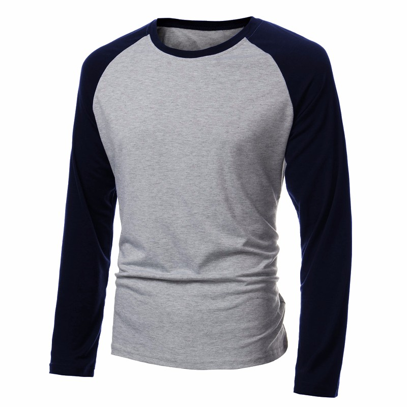 Spring Men's Long Sleeve   T     Shirt   Patchwork O-neck Streetwear Baseball Casual   T  -  shirts   Fashion Men Tee Tops Plus Size 4XL 2019