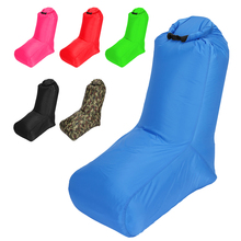 Light sleeping bag Inflatable Lounger Couch Camp Picnic Beach Air Sofa Chair with Backrest Outdoor Camping Equipment Durable
