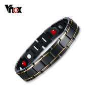 Vnox Pure Titanium Magnetic Therapy Bracelet Pain Relief for Arthritis and Carpal Tunnel Men Jewelry