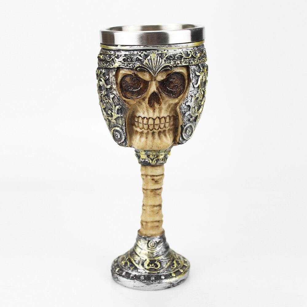 Copa de guerrero de acero inoxidable de resina Retro copa de vino creativo