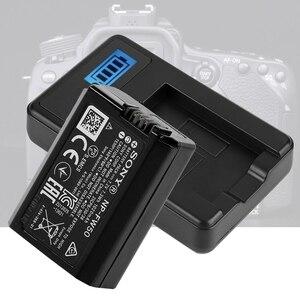 Image 1 - NP FW50 バッテリー充電器液晶単一の Usb ソニーアルファ A6000 A6300 A6500 A7r A7 ドロップ船