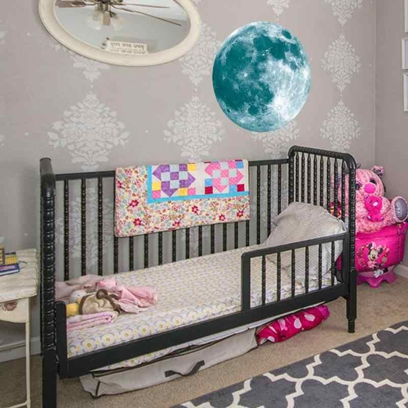 Super brillante luminosa Luna decoración pegatinas Lunar luminosa planeta pared Pegatinas a prueba de habitación de niños