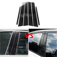 VODOOL Car Accessories Sticker Parts Carbon Fiber Window B pillars Trim Car Styling Sticker for 3 Series E46 Exterior Accessory