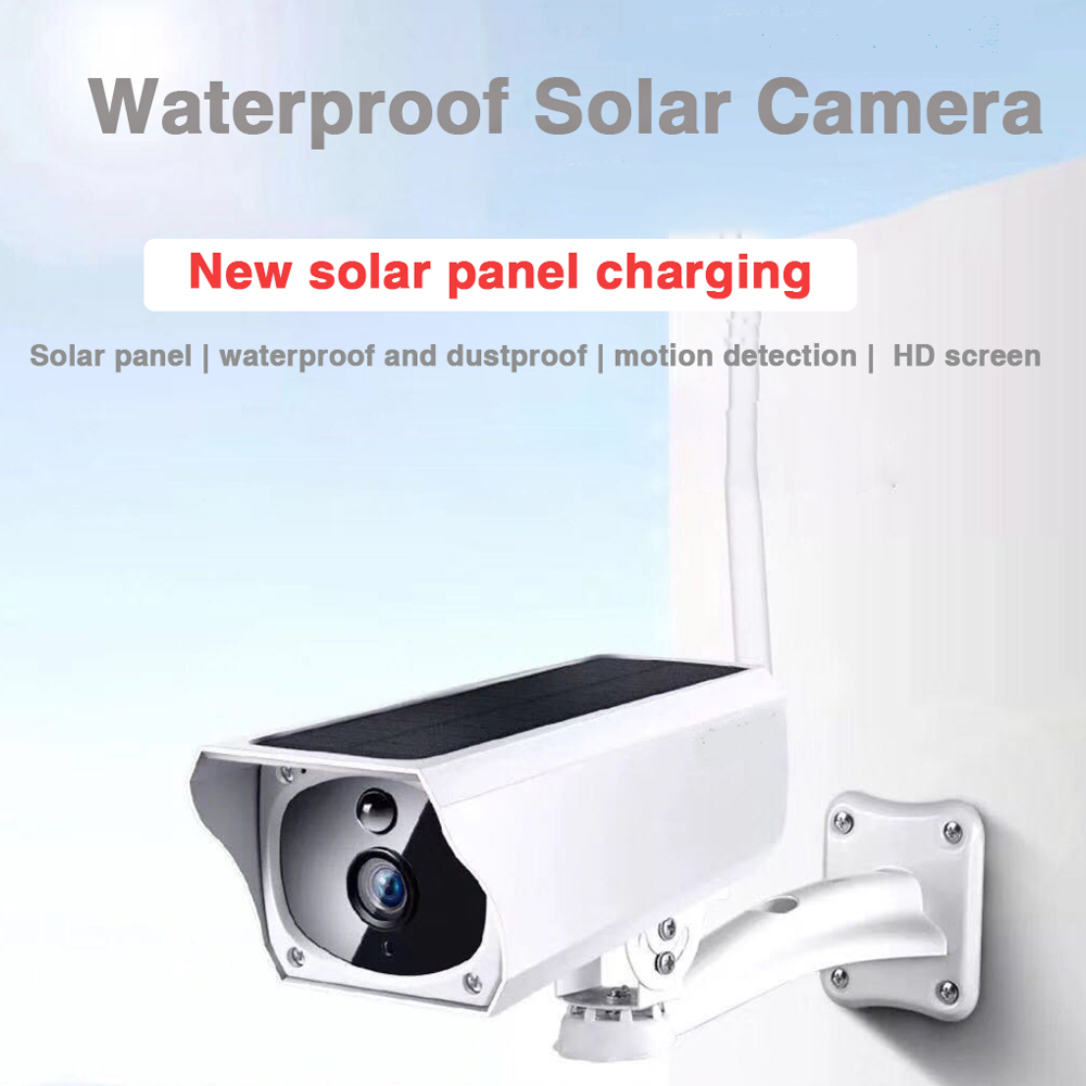 HD 1080P 2MP Solar Smart IP Camera Wifi Wireless IP67 Waterproof Outdoor Indoor Security Surveillance Camera Support ONVIF