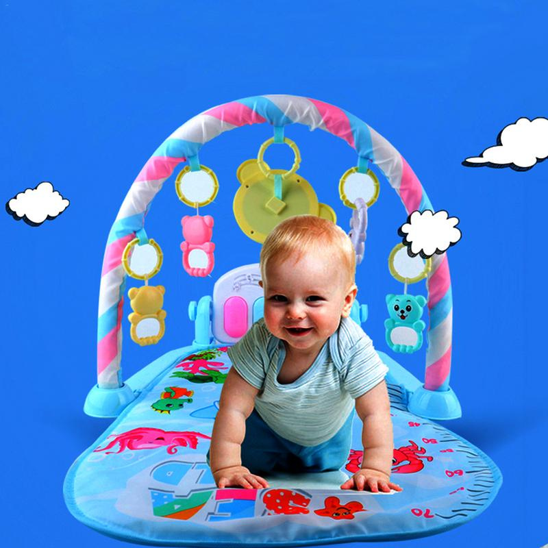 Baby Pedal Piano Body Building Instrument For Newborn Baby Music Game Blanket Toy Ringing Bell Baby Fitness Game Activity Frame in Baby Activity Gym from Toys Hobbies
