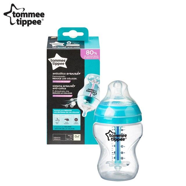 Бутылочка для кормления tommee tippee Advanced, 260 мл, с усиленным антик. клапаном и индикат. темп, медл. поток