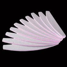 цена на 100/180 Washable Tips 10Pcs/lot Files Use Nail Manicure UV Nail File Grey Art Professional Salon Buffer Buffer Gel Sanding Tool