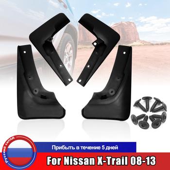 Fartuchy przeciwbłotne dla Nissan x-trail 2008 2009 2010 2011 2012 2013 błotniki błotniki akcesoria samochodowe tanie i dobre opinie Iso9001 24cm 14cm 42cm ABS plastic 880g Auto Wheel Protector For Nissan 2008-2013 For Nissan X-Trail 2008-2013