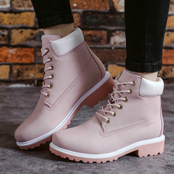 2019 Leather Women Boots Dr Martin Boots Shoes High Top Motorcycle Autumn Winter Shoes Woman Snow Boot Size 36-43