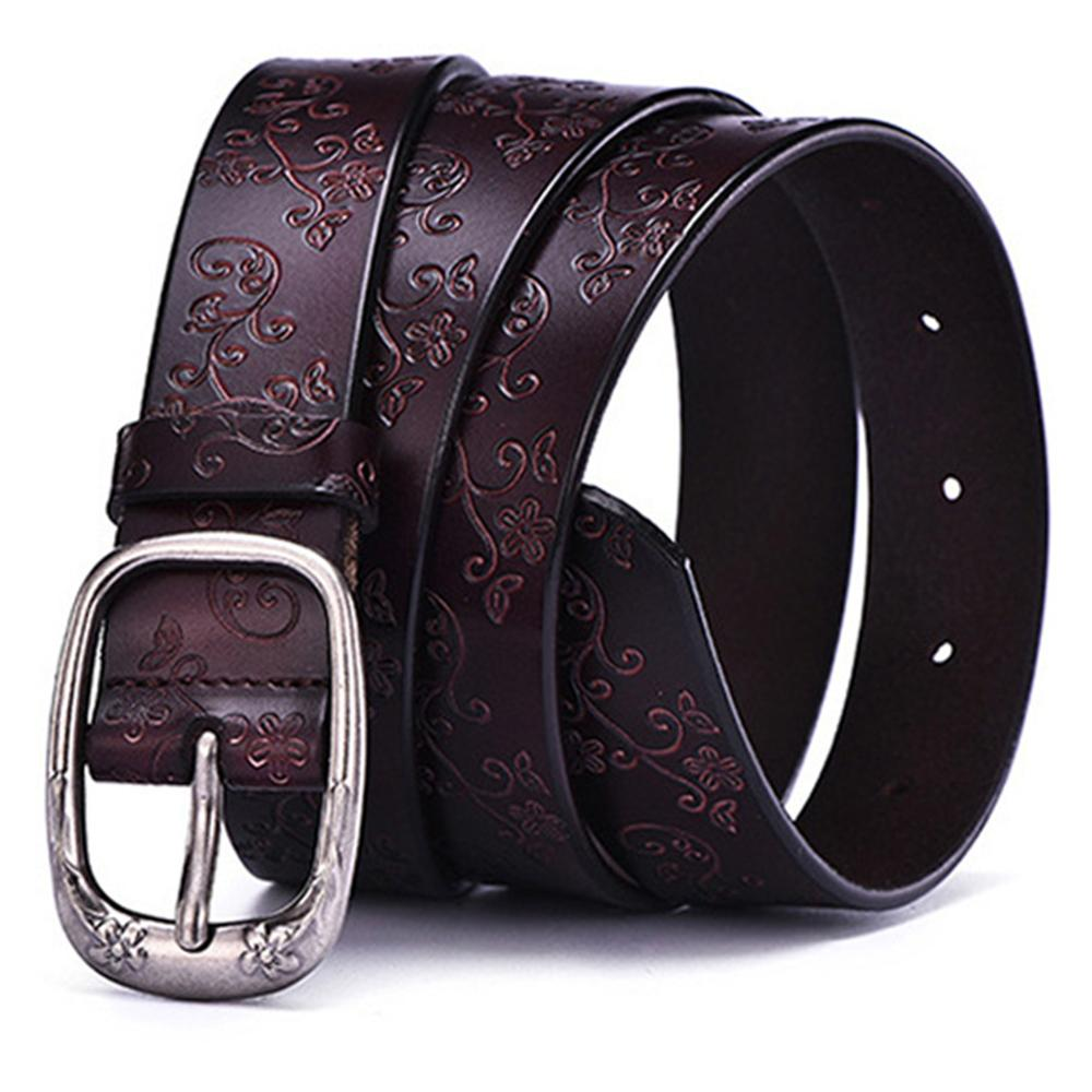 AKTRIS New Brand Name Women 39 s Cowhide Leather Female Pin Buckles Metal Fancy Vintage Belts Floral Pattern Design 2 8cm FCO121 in Women 39 s Belts from Apparel Accessories
