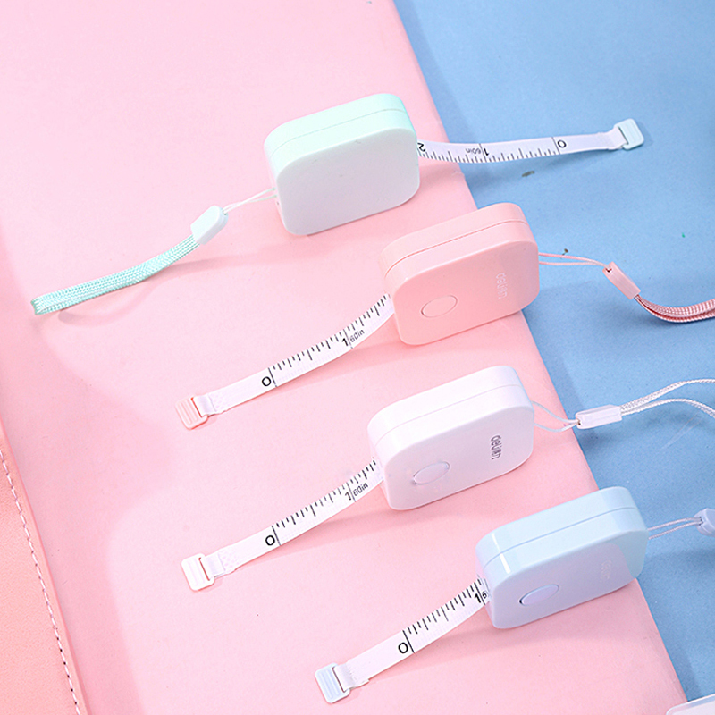 SIXONE 1.5 M * 7mm Tape Measure Macaron Candy Color Leather Ruler Box Portable Fashion Design School Supplies