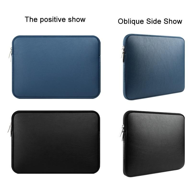Купить с кэшбэком Waterproof PU leather laptop sleeve bag For Macbook Pro Air Retina 11 12 13 15 inch notebook prodector case free shipping
