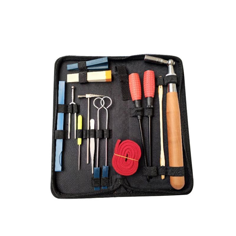 Kit de réglage de Piano professionnel ensemble d'outils de réglage de Piano poignée en bois clé de réglage fixe avec sac