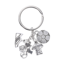 1pc Metal Personality Soccer Key Rings 3D Football Keychains