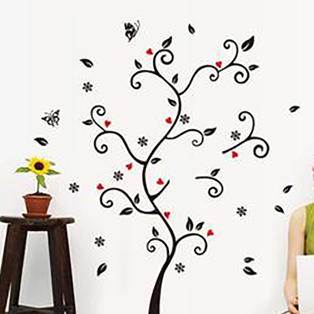 DIY Vintage Poster Design Photo Frame Tree Wall Stickers Living Room Sofa Wall Art Decals Home Decoration for Kids