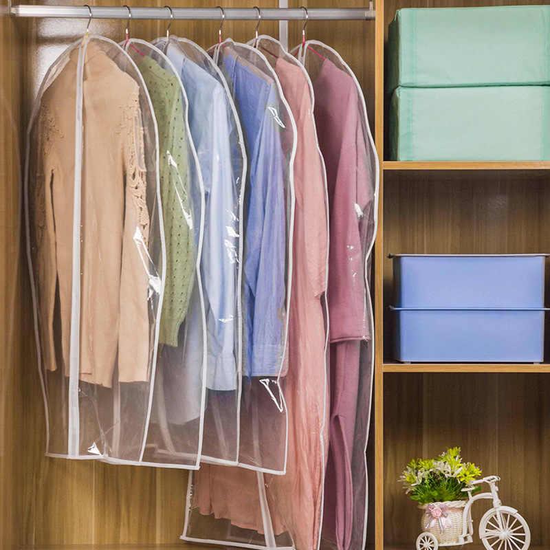 PEVA Прозрачный чехол для одежды для защиты от пыли одежды пальто куртка сумка для хранения с молнией пыли влагостойкая защита KV005