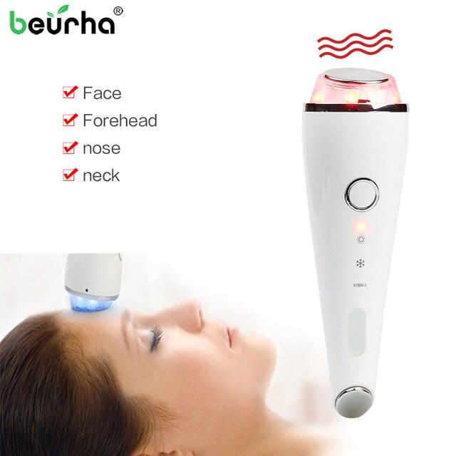 Hot Cold Hammer LED Photon Machine Skin Care Machine Facial Photon Rejuvenation Face Care Anti-aging Device Vibration SPA