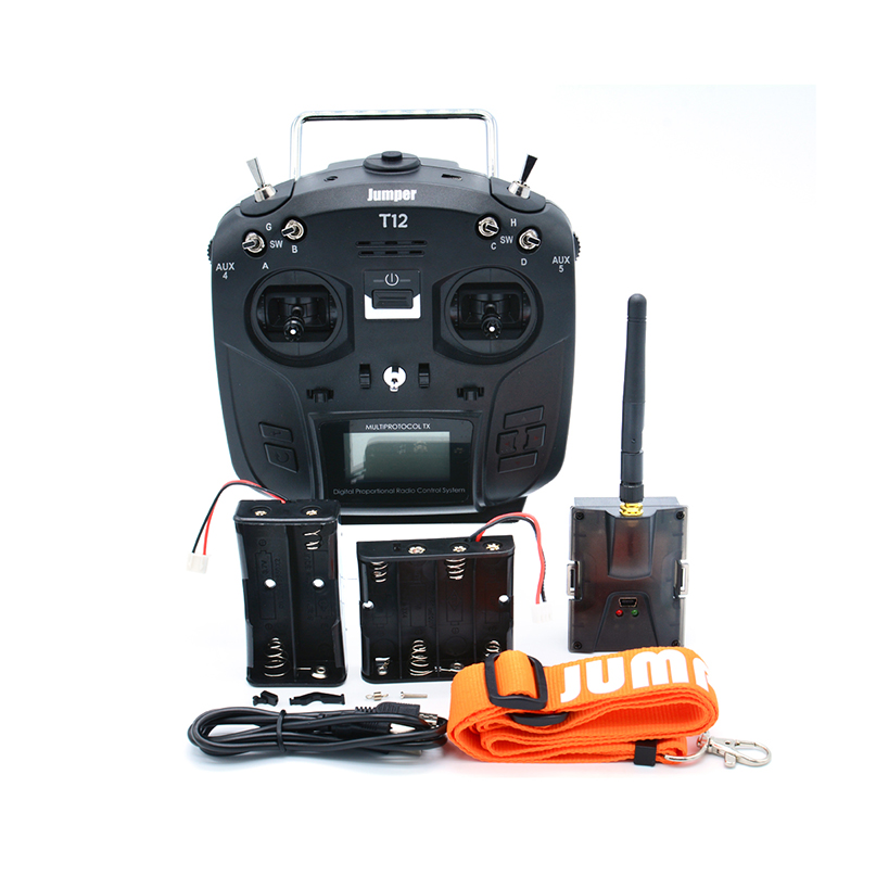 Jumper T12 PLUS Open Source 16ch Radio with JP4-in-1 Multi-protocol RF Module With HALL Gimbal for RC Drone Car Boat PartsJumper T12 PLUS Open Source 16ch Radio with JP4-in-1 Multi-protocol RF Module With HALL Gimbal for RC Drone Car Boat Parts