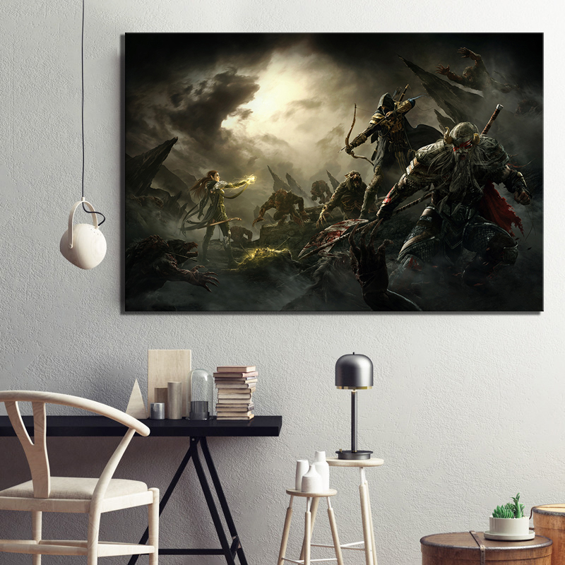 1 Piece Elder Scrolls Game Poster Artwork Painting The Elder Scrolls Online Picture Canvas Painting Wall Art for Home Decor image