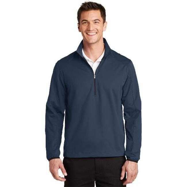 Порты и разъёмы Authority J716 мужские Активный 1 2 Zip Soft Shell Jacket платье Синий Темно очень