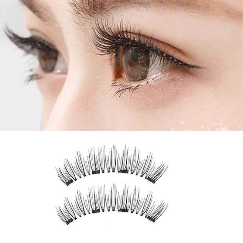 3f2896526d9 Detail Feedback Questions about 1pair 3D Magnetic Eyelashes Extension With  4 Magnet Natural Handmade False Eyelashes Eye Lashes Eye Makeup Tools Kit  on ...