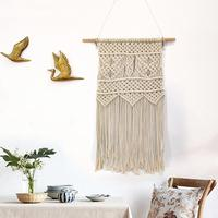 Adeeing Manual Knitting Hanging Tapestry for Apartment Dormitory Bedroom Wall Decor