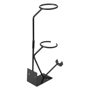 Image 3 - הכי חדש תרסיס אקדח סוגר סוגר הכבידה להאכיל צבע מחזיק מרסס Stand עם מסננת מחזיק קיר ספסל צבע כלים חלקי
