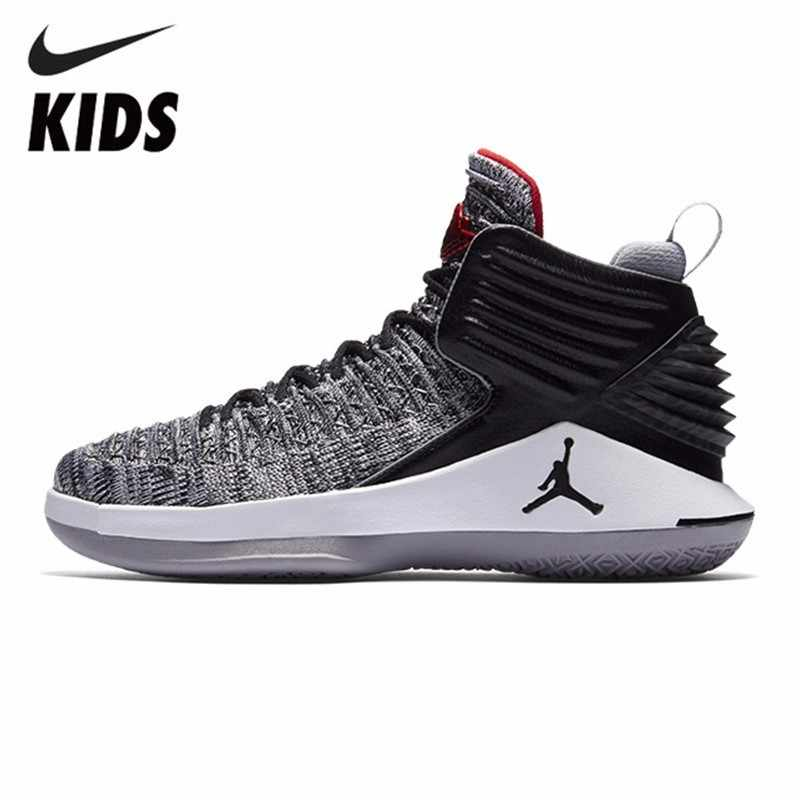 2c354c8a9ee NIKE AIR JORDAN XXXII LOW BG AJ32 Boy And Girl Actual Combat Basketball  Shoes Running Shoes