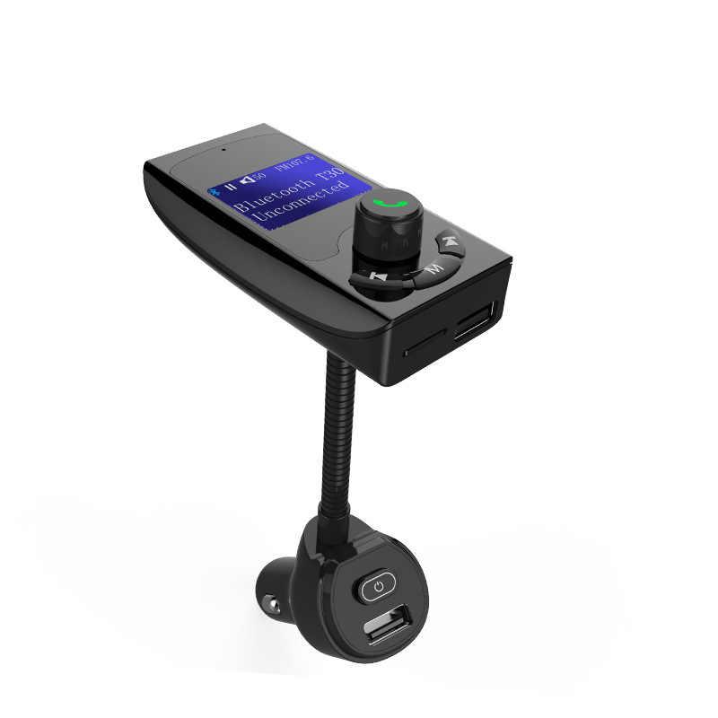T30 Bluetooth гарнитура для авто Handsfree FM передатчик AUX воспроизведения 5 в 3.1A двойной зарядное устройство USB поддержка независимых мощность переключатель