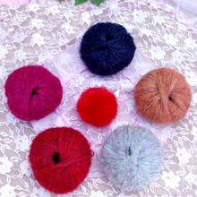 25g/ball cotton yarn Mohair for knitting wool jewelry Plush chunky Hand Knitting Thread wholesale QW090