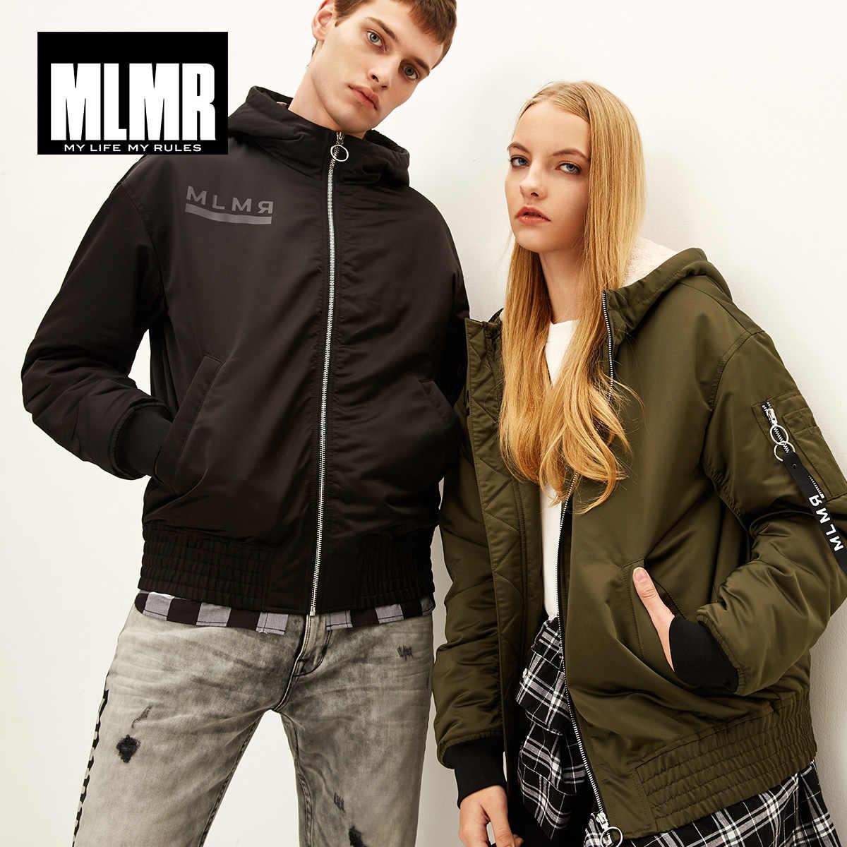MLMR 男性の冬 & 冬付きジャケットファッションデザインスリムフィットカレッジ高級フリースパイロットジャケット jackjones 218309516