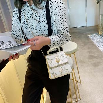 Pearl Leather Crossbody Bags For Women 2020 Luxury Handbags Designer Ladies Hand Tote Shoulder Messenger Bag Sac A Main Female 1