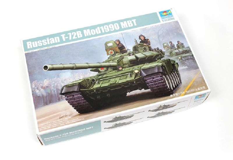 1/35 Trombettista 05564 Russo T-72b Mode.1990 Mbt Di Carro Armato Di Battaglia Modello Statico Kit