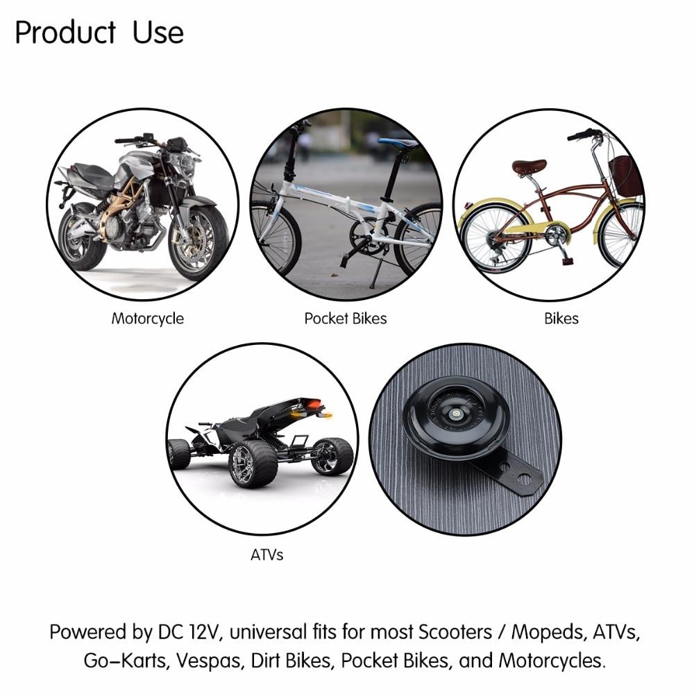 AOZBZ Универсальный мотоцикл электрический рог комплект 12 В 1.5A 105db водостойкий круглый громкий штекер колонки для скутера мопед Байк ATV