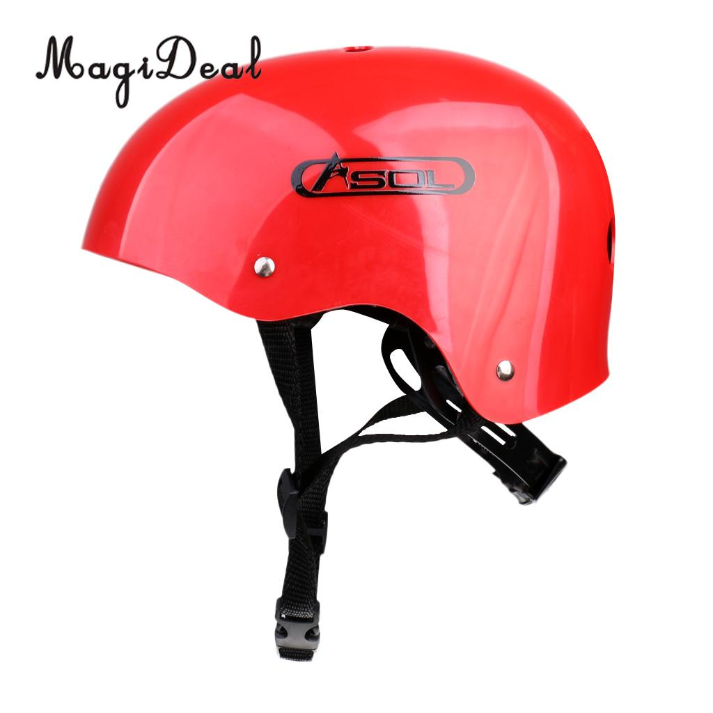MagiDeal Outdoor Rock Climbing Rappelling Helmet Hard Hat Safety Protective Gear Red For Carving Boating Surfing Accessory