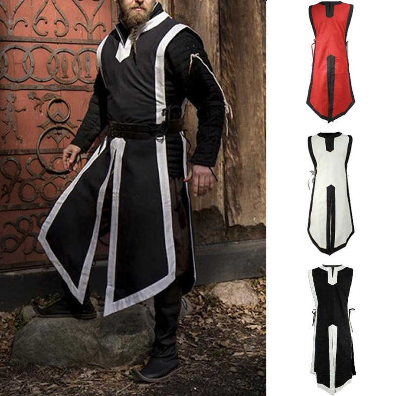 8431a6f561 Retro Performance Costumes Medieval Cosplay Knight Wear Period Costumes Men  Clothing Noble Uniform Man s Sleeveless Top