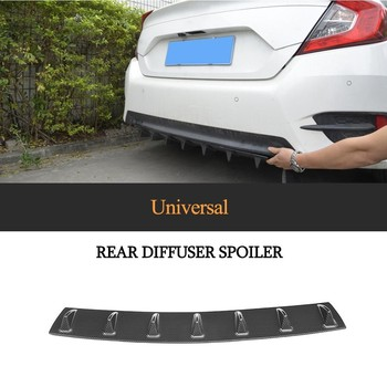 Universal Roof Wing Spoiler Rear Bumper Lip Chassis diffuser ABS Plastic 7 Fins Shark For BMW E46 E90 Honda Toyota Nissan image
