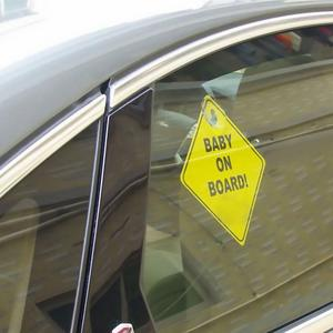 Image 4 - 1mm Thickness Car Sticker BABY ON BOARD Baby Car Warning Signal Safety Sign Environmental Protection Suction Cup Style Sticker