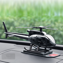 Car Supplies Creative Helicopter Aircraft Decoration High-grade Metal Gift Solar Perfume Fragrance Airplane Ornament
