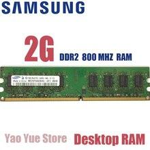 Samsung 1 GB 2 GB DDR2 Máy Tính Để Bàn bộ nhớ PC2 667 800 MHZ Module 667 MHZ 800 MHZ 5300 S 6400 S 1G 2G ECC RAM