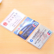 Card Holder ID Card Sets Students Protective Case Meal Bankr Antimagnetic Badge Transparent Met(China)