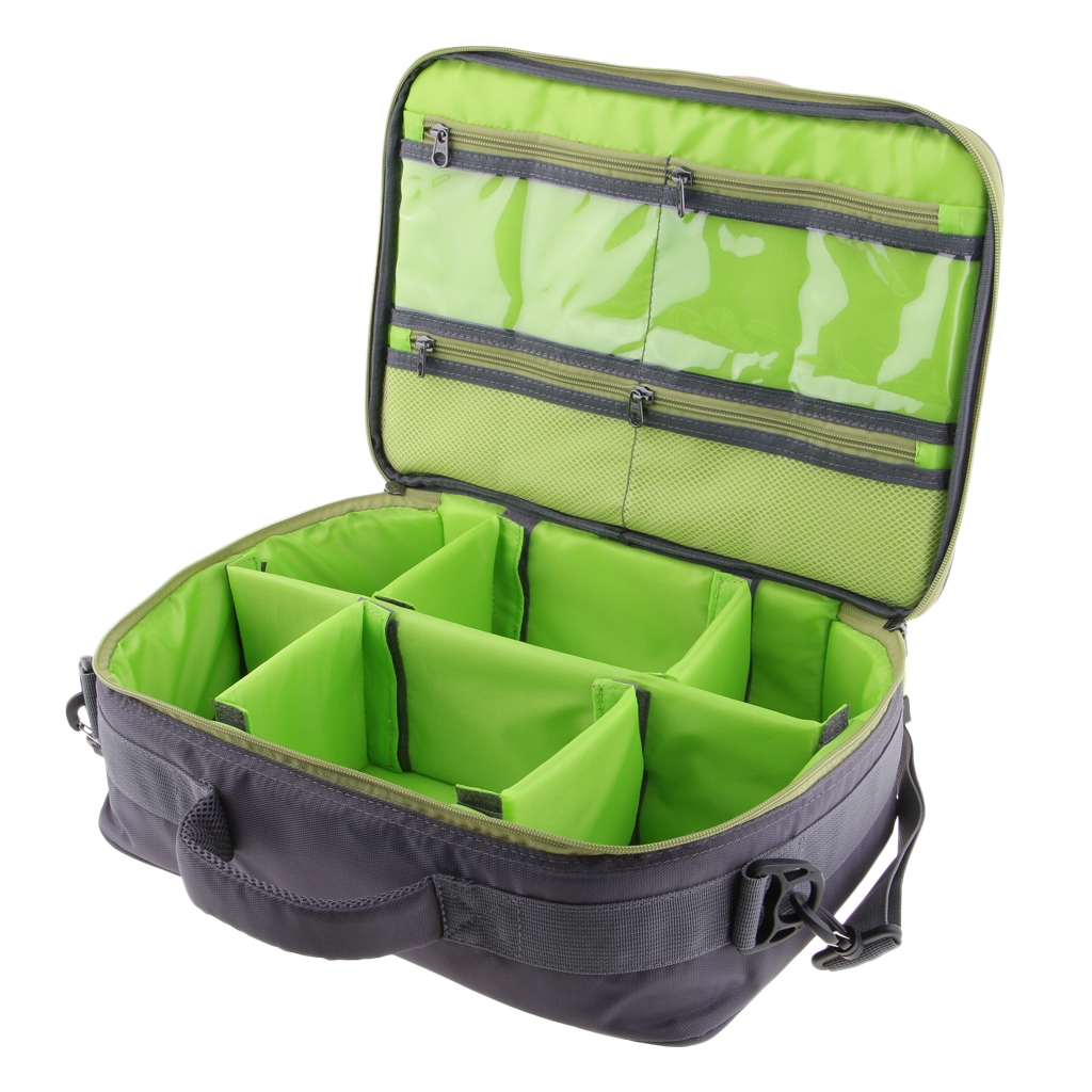 6 Compartments Fishing Reel And Gear Bag Adjustable Reel Case Tackle Bag With Detachable Interior Divider Reputation First Security & Protection